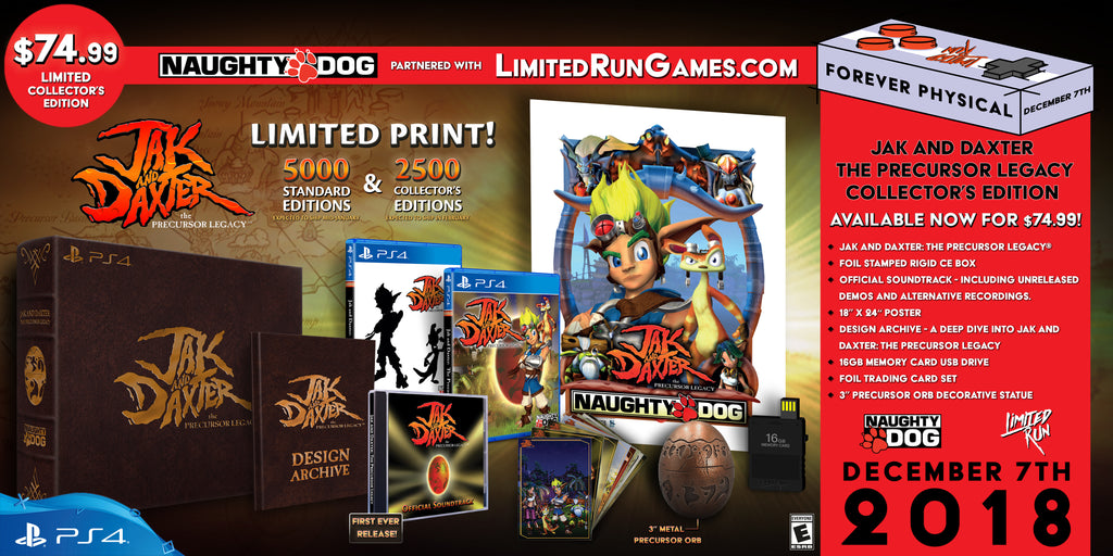 Limited Run #184: Jak and Daxter: The Precursor Legacy Collector's Edition (PS4)
