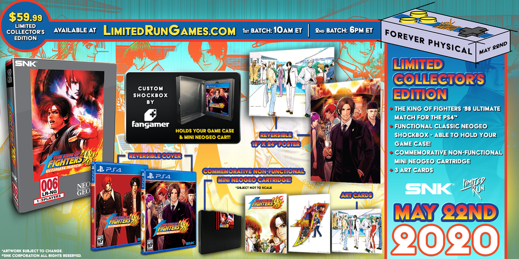 Limited Run #344: The King of Fighters '98 Ultimate Match Collector's Edition (PS4)