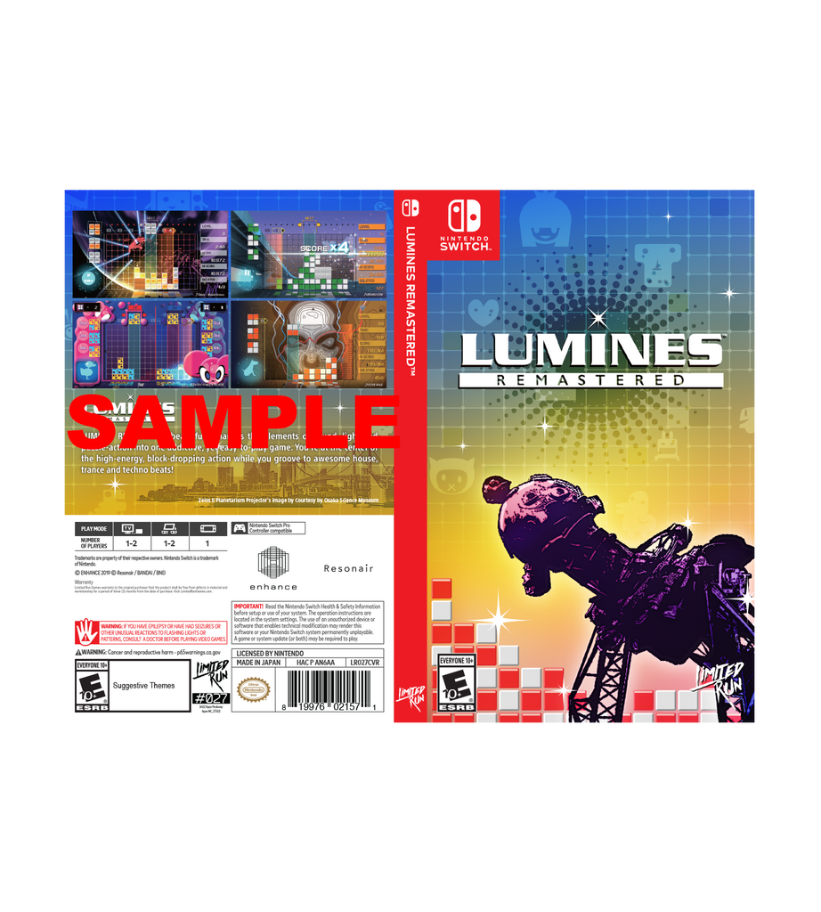Lumines Best Buy Exclusive Cover Sheet