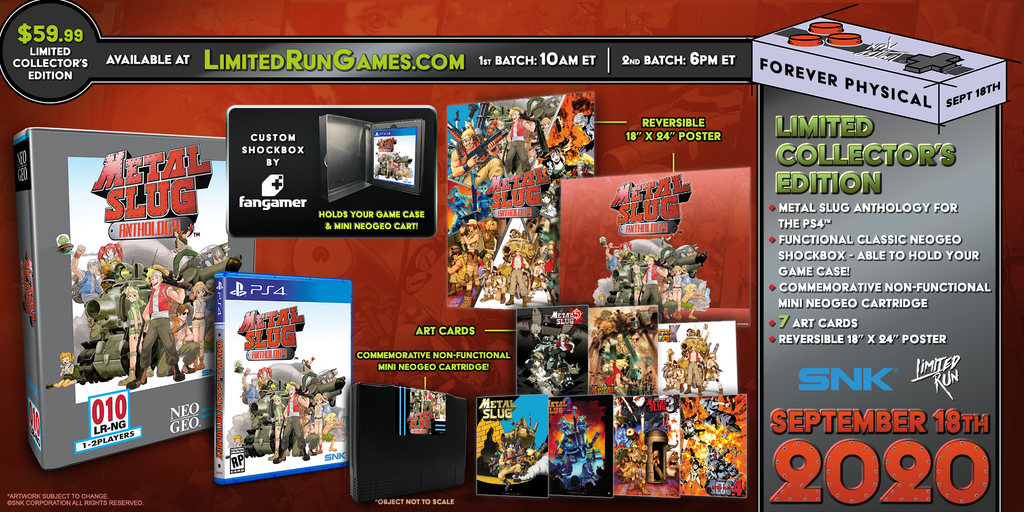 Limited Run #364: Metal Slug Anthology Classic Edition (PS4)