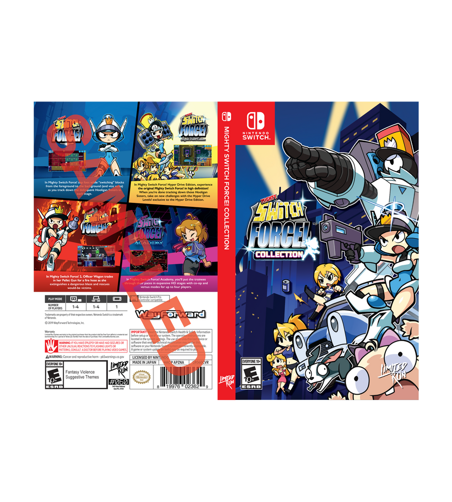 Mighty Switch Force Best Buy Exclusive Cover Sheet