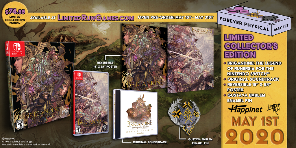 Switch Limited Run #71: Brigandine: The Legend of Runersia Collector's Edition [PREORDER]