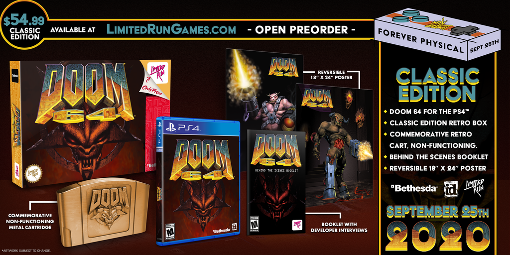 Limited Run #365: DOOM 64 Classic Edition (PS4)