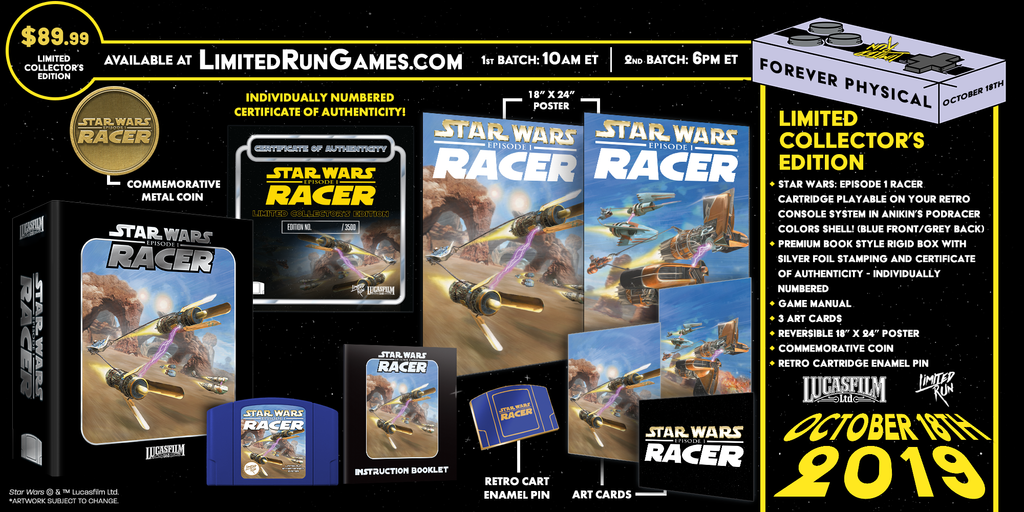 Star Wars Episode I: Racer (N64) Premium Edition