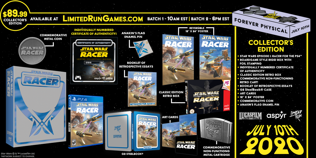 Limited Run #350: Star Wars Episode I: Racer Premium Edition (PS4)