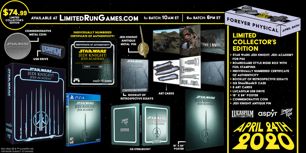 Limited Run #337: Star Wars Jedi Knight: Jedi Academy Premium Edition (PS4)