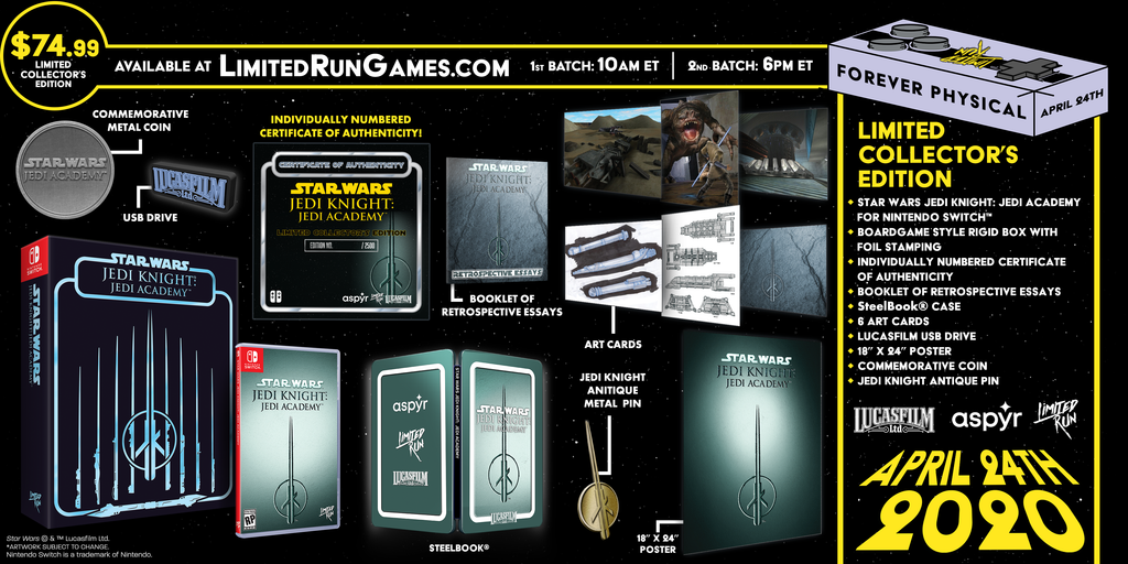 Switch Limited Run #70: Star Wars Jedi Knight: Jedi Academy Premium Edition