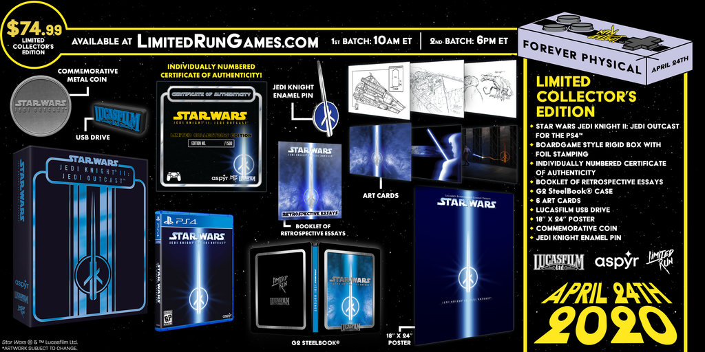 Limited Run #336: Star Wars Jedi Knight II: Jedi Outcast Premium Edition (PS4)