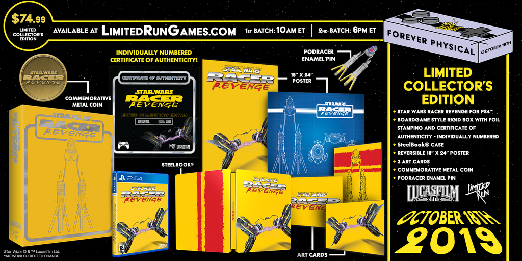 Limited Run #290: Star Wars Racer Revenge Premium Edition (PS4)