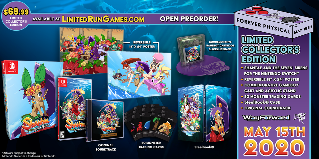 Switch Limited Run #72: Shantae and the Seven Sirens Collector's Edition [PREORDER]