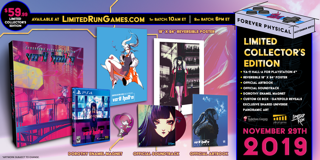 Limited Run #314: VA-11 HALL-A Collector's Edition (PS4)