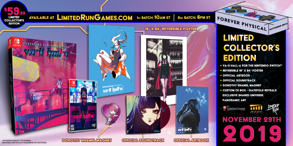 Switch Limited Run #53: VA-11 HALL-A Collector's Edition