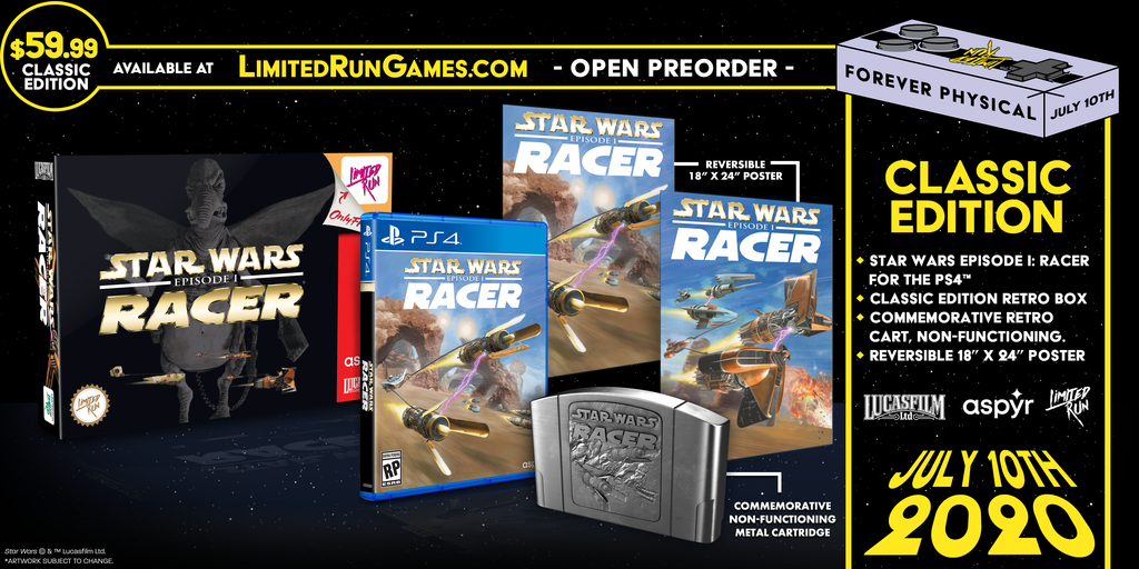 Limited Run #350: Star Wars Episode I: Racer Classic Edition (PS4) [PREORDER]