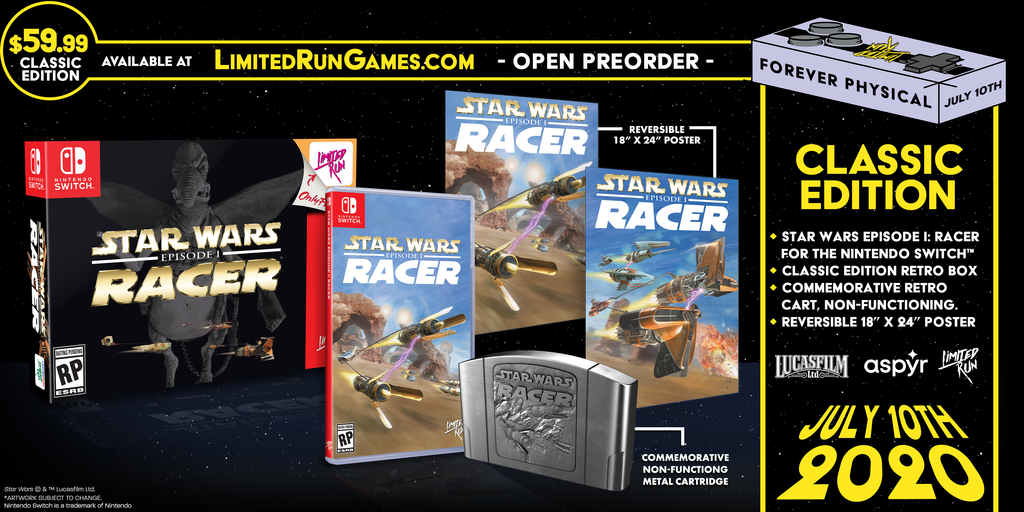 Switch Limited Run #77: Star Wars Episode I: Racer Classic Edition [PREORDER]