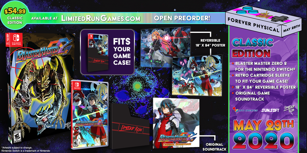 Switch Limited Run #74: Blaster Master Zero 2 Classic Edition [PREORDER]
