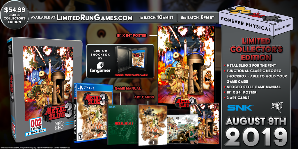 Limited Run #285: Metal Slug 3 Classic Edition (PS4)