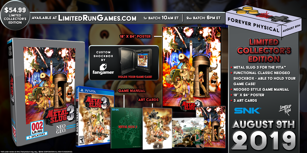 Limited Run #248: Metal Slug 3 Classic Edition (Vita)