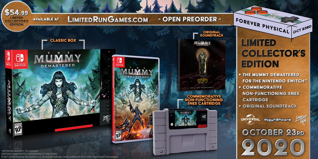 Switch Limited Run #86: The Mummy Demastered Collector's Edition