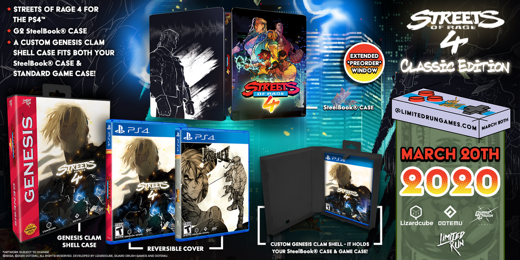 Limited Run #332: Streets of Rage 4 Classic Edition (PS4) [PREORDER]
