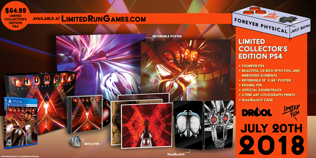 Limited Run #172: Thumper Collector's Edition (PS4) [PREORDER]