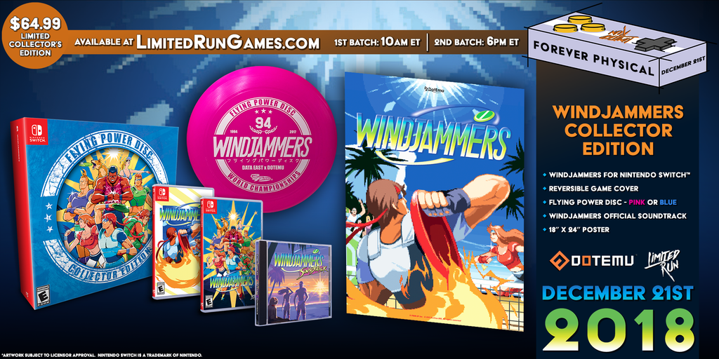 Switch Limited Run #22: Windjammers Collector's Edition [PREORDER]