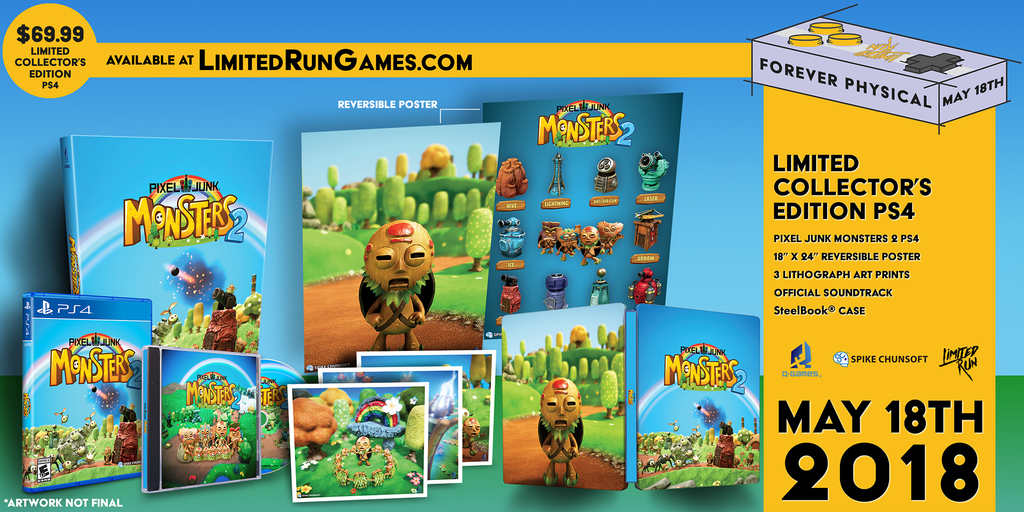 Limited Run #150: PixelJunk Monsters 2 Collector's Edition (PS4)