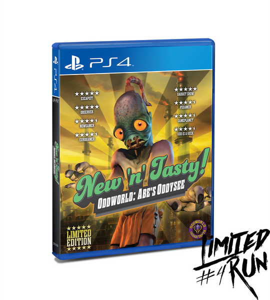 limited run 4 oddworld new n 39 tasty ps4 limited run. Black Bedroom Furniture Sets. Home Design Ideas