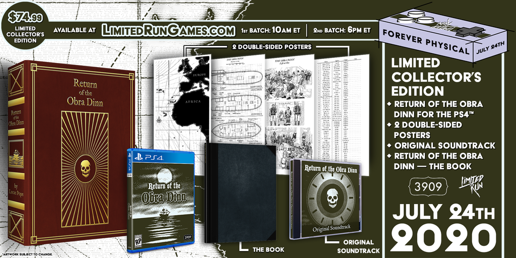 Limited Run #355: Return of the Obra Dinn Collector's Edition (PS4)
