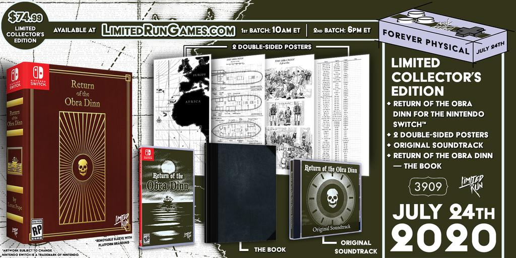 Switch Limited Run #78: Return of the Obra Dinn Collector's Edition