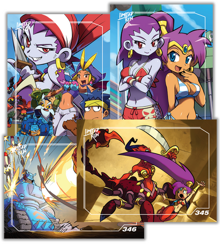 Shantae Trading Card Set (4 Cards)