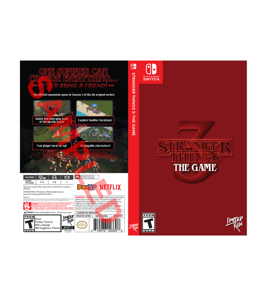 Stranger Things 3: The Game Best Buy Exclusive Cover Sheet