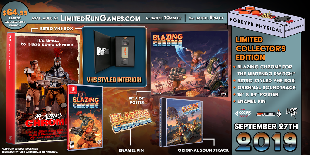 Switch Limited Run #48: Blazing Chrome VHS Edition