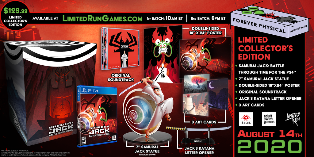 Limited Run #356: Samurai Jack: Battle Through Time Collector's Edition (PS4)