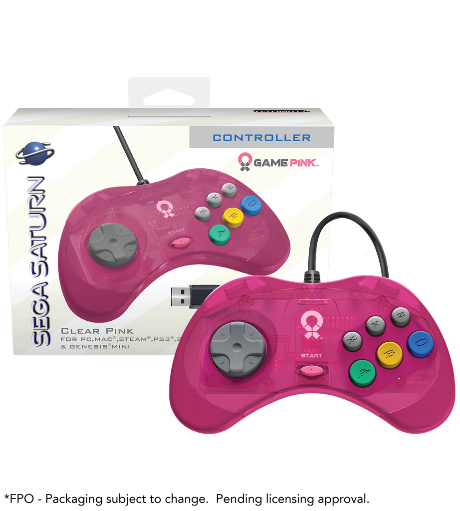 Official Sega Saturn Pink USB Controller