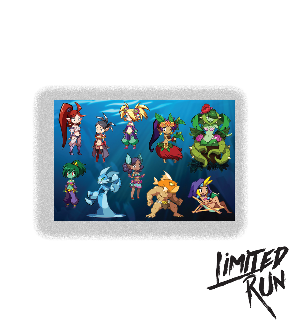 Shantae and the Seven Sirens Sticker Sheet (PAX Exclusive)