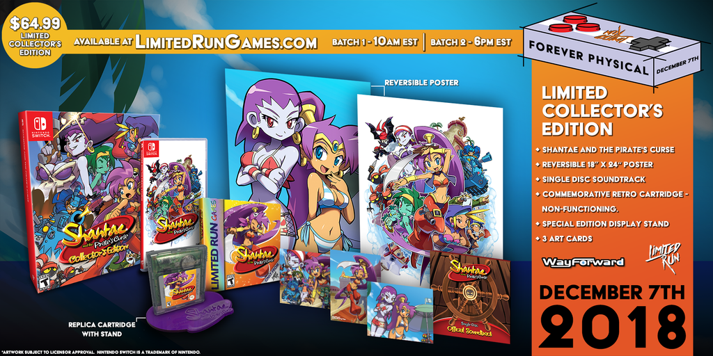Switch Limited Run #21: Shantae and the Pirate's Curse Collector's Edition [PREORDER]