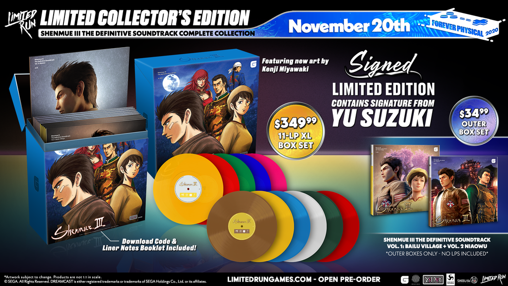 Shenmue III The Definitive Soundtrack Complete Collection (Signed Edition)