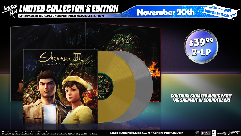 Shenmue III Original Soundtrack Music Selection (2LP)