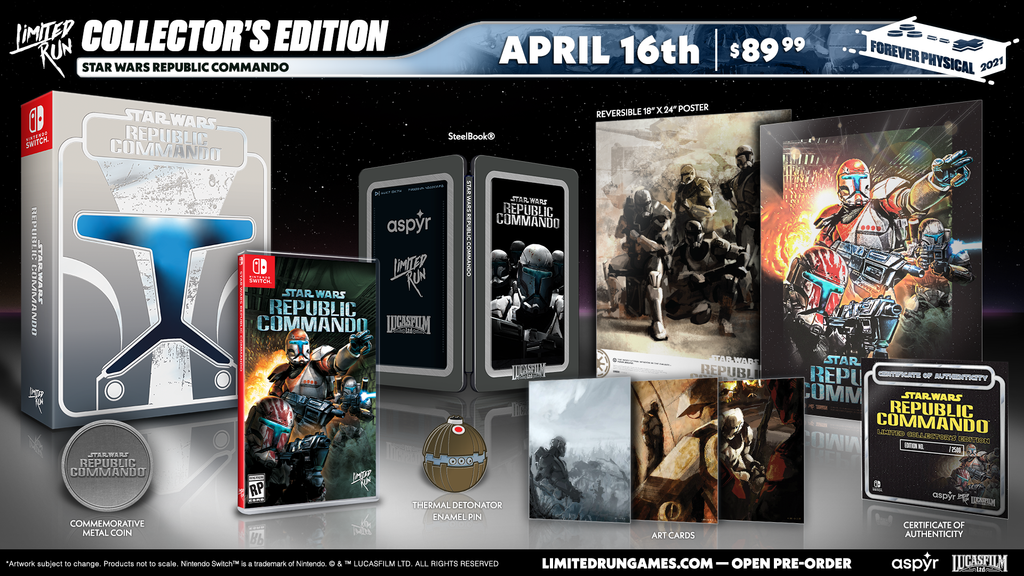 Switch Limited Run #103: Star Wars: Republic Commando Collector's Edition