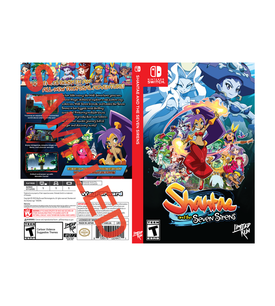 Shantae and the Seven Sirens Best Buy Exclusive Cover Sheet