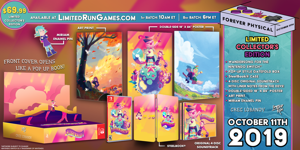 Switch Limited Run #49: Wandersong Pop-up Edition