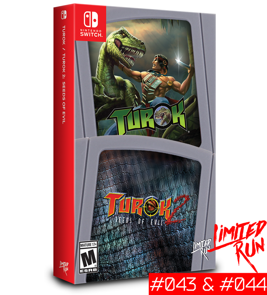Switch Limited Run #43 & #44: Turok / Turok 2 [PREORDER]