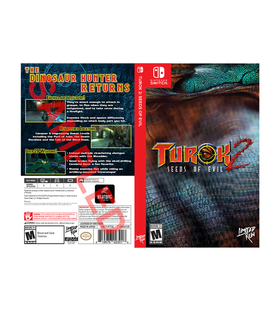 Turok 2 Best Buy Exclusive Cover Sheet