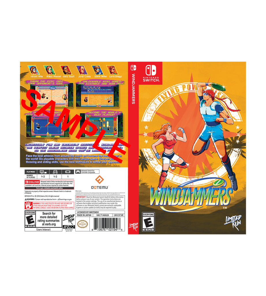 Windjammers Best Buy Exclusive Cover Sheet