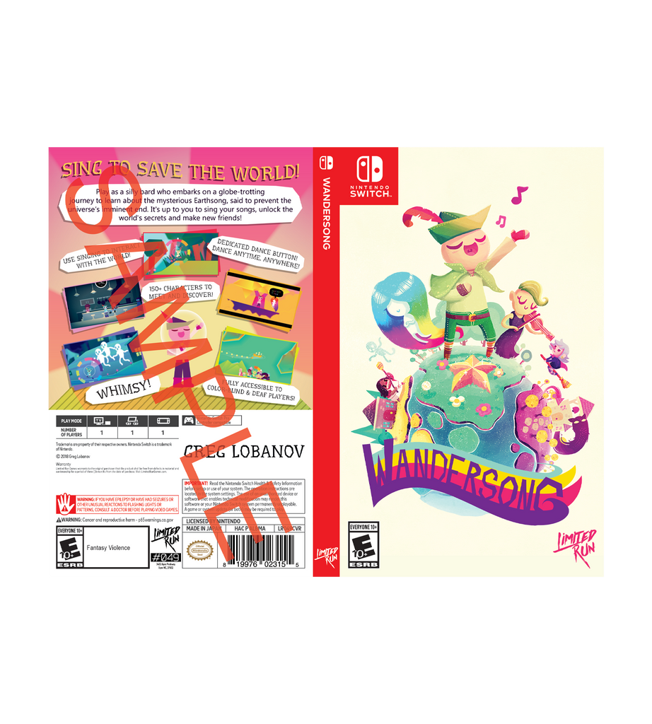 Wandersong Best Buy Exclusive Cover Sheet