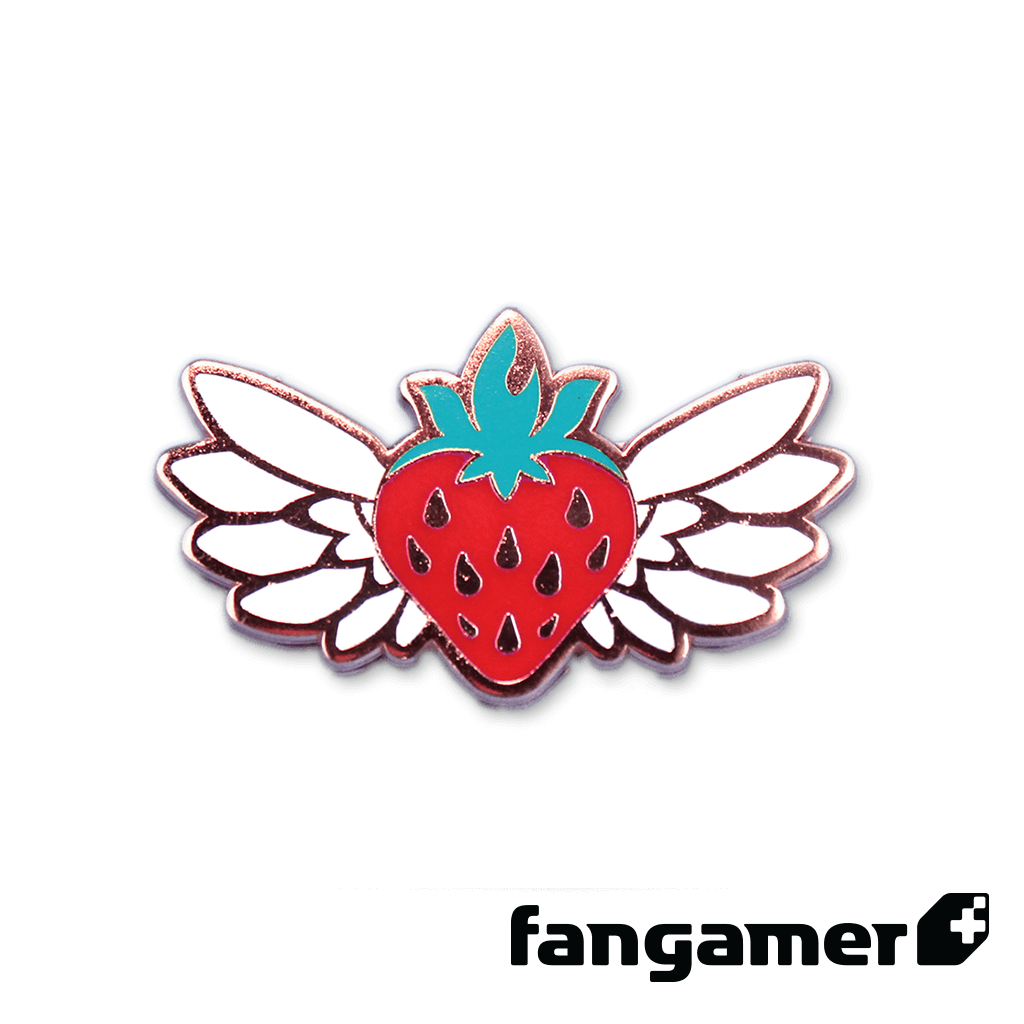 Celeste Flying Strawberry Pin