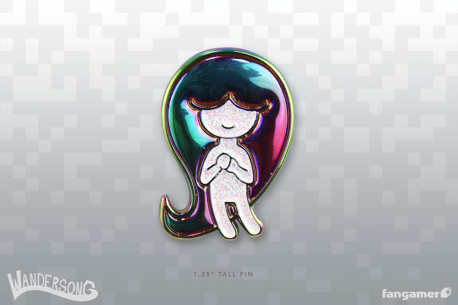 Wandersong Rainbow Girl Pin