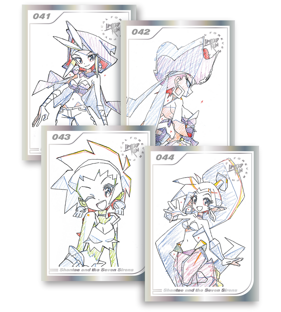 Shantae and the Seven Sirens Trading Card Set (4 Cards)