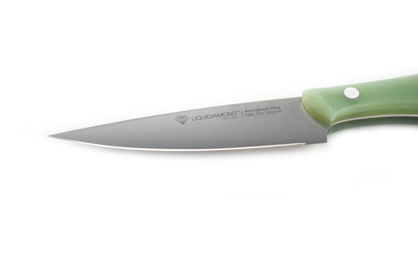 "LIQUIDIAMOND® Edge Series 4"" Paring knife - Sea Glass G-10 grip"