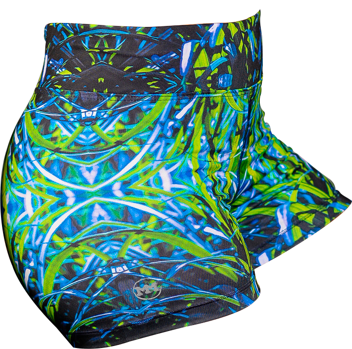 Women's Printed Shorts: Cool Grass